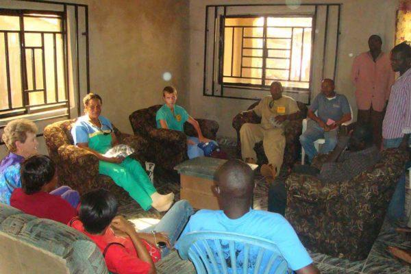 Visiting Mainguwa (community leader) at Luvu 2 Day 3